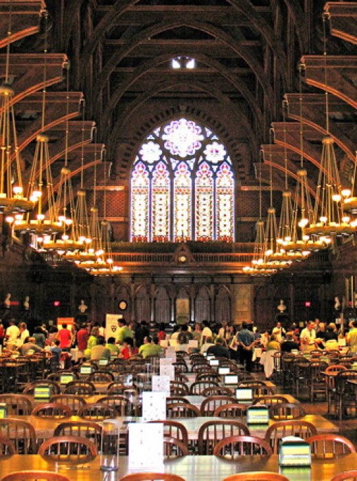 Hogwart's? Nope. Harvard's Freshman dining hall!