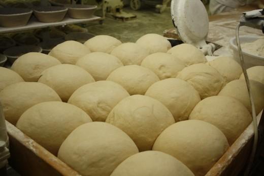Uncooked yeast dough
