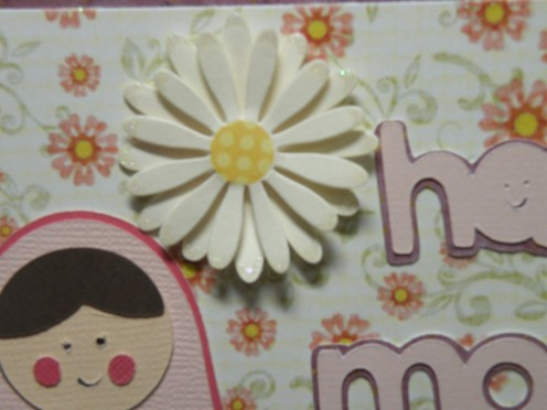 accent flower adhered