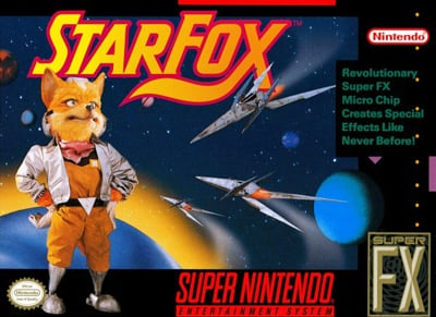 The original StarFox (SNES) box art.