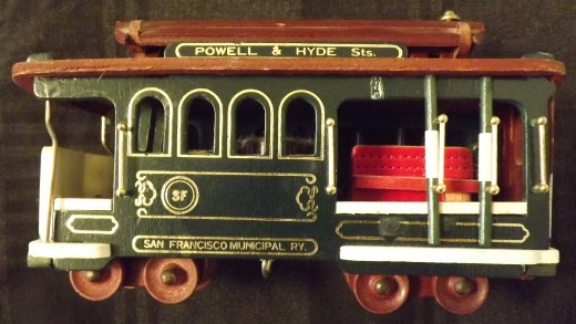 Collectible San Francisco Trolley Car Music Box