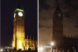 Big Ben Before / During Earth Hour
