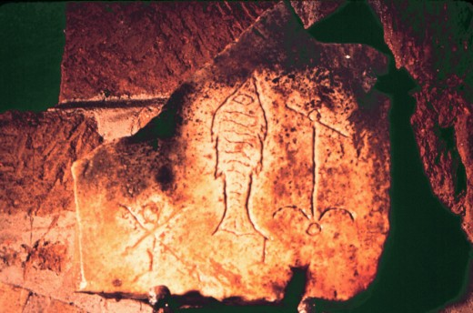 Both of these were found on stone in the Catacombs.