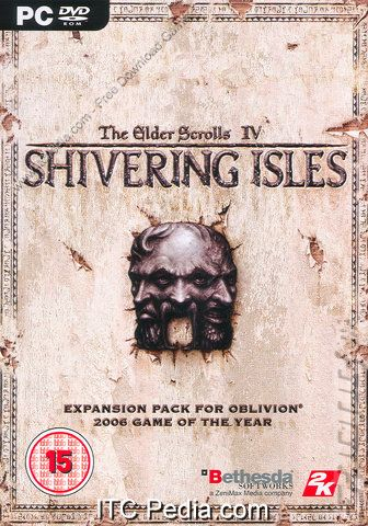 The Elder Scrolls IV: The Shivering Isles Expansion cover for PC.
