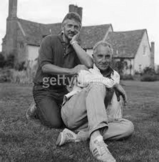 Nigel With His Partner Trevor Bentham