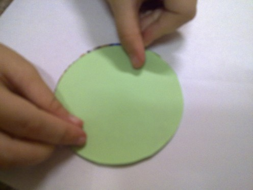 paste green paper on top of the wrong side