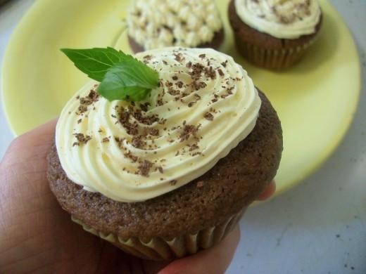 Gluten-Free Mint Chocolate Cupcakes