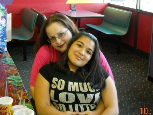 Geegee77 and granddaughter Sarah