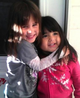 Faith and Savanah - granddaughters
