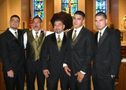 Her boys, Michael, Chico (hubby), Elijio, Anthony and Marcus