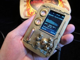 How funny is this Steampunk MP3 player?