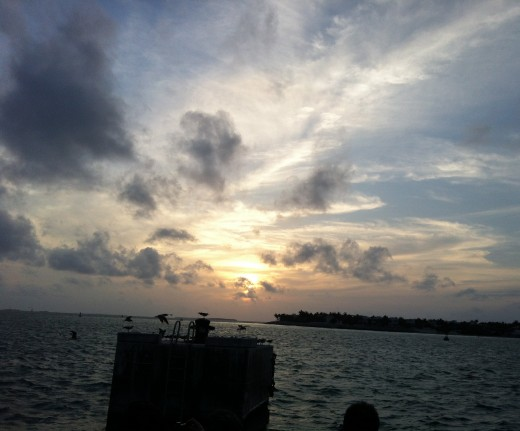 The sunset from the view at Mallory Square