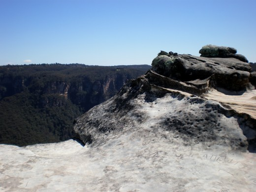 View from the top of the Blue Mountains, New South Wales, Australia.