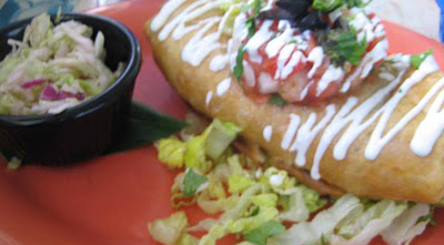 Cha Cha Cha Salsaria's Chicken Chimichanga