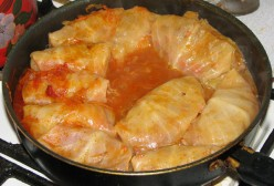 Stuffed Cabbage Simmering