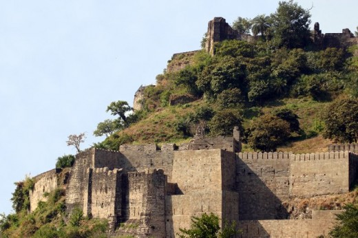Remains of Kangra Fort. This fort is oldest recorded fort in India and Largest in Himalayas. It has Unique distinction of being ruled by great Hindu Kings, Muslim Invaders, Sikh Maharaja and Christian Rulers of British empire.
