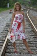 This hot southern belle would have no trouble at all hitching a ride on any freight train.