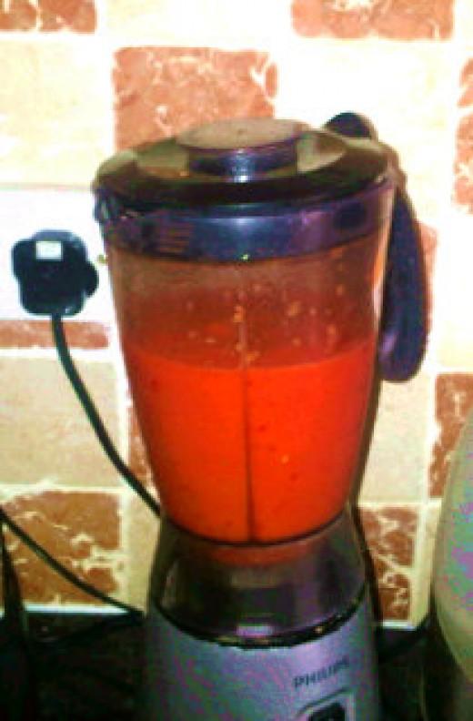 Blender paste inside a blender