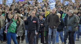 Protesters angry about economic woes