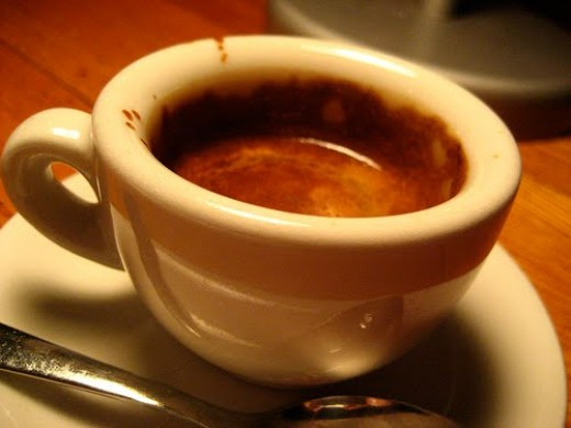 Espresso: a typical serving of quality espresso in Europe