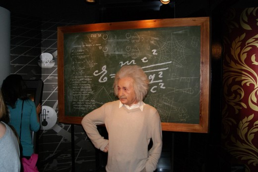 Einstein at Madame Tussauds Berlin