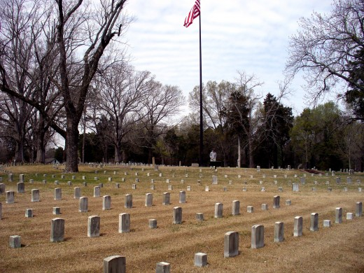 Photo 11 - Shiloh National Cemetery.  I love the United States Flag in the background.