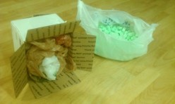 When it comes to shipping items in a box, plastic bags are much cleaner than those annoying styrafoam peanut things.