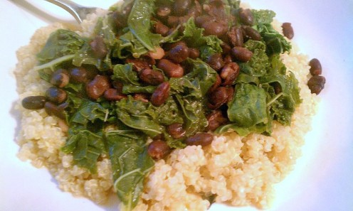 Kale, beans and quinoa - a protein-packed dinner!