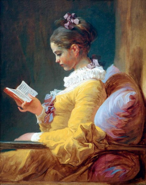 """Young Girl Reading,"" by  Jean-Honore  Fragonard (1776) Study to shew thyself approved unto God, a workman that needeth not to be ashamed, rightly dividing the word of truth. 2 Timothy 2:15"