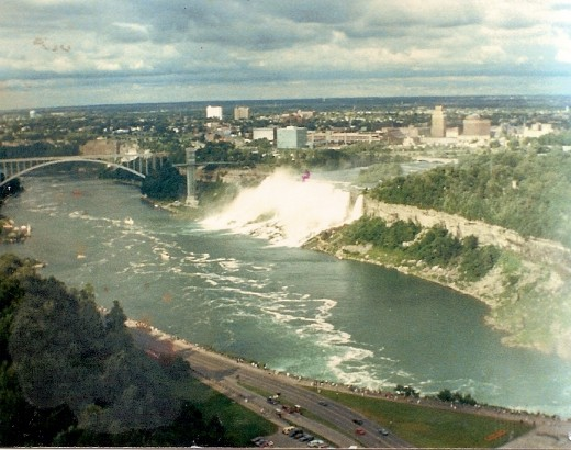 View of American falls from Minolta Tower