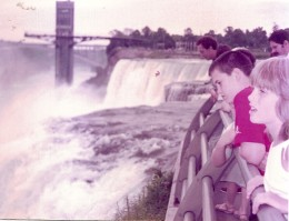 Looking at the American falls