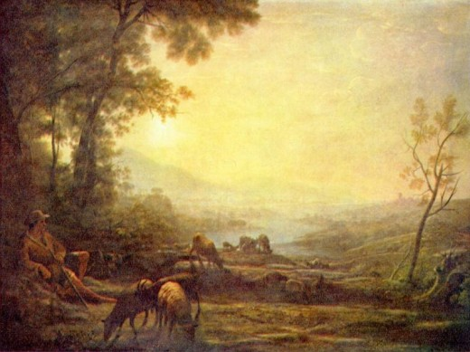 "Claude Lorrain, ""Shepherd"" oil on canvas 1655-60 National Gallery of Art, Washington D.C."