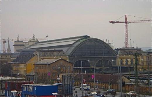Keleti (Eastern) Train Station (rear view)