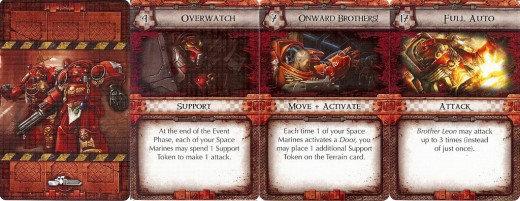 The Red team's three order cards (click for larger image)