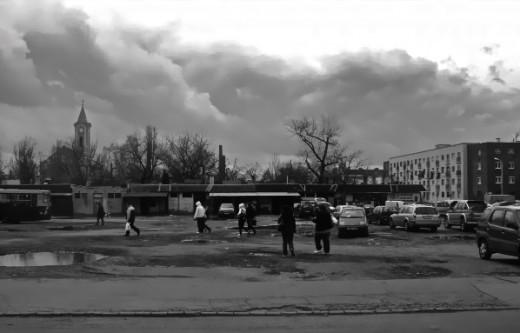 Csepel parking lot