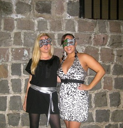 The author with a friend in Quito on New Year's Eve