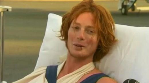 David Pickering after his shark attack ordeal