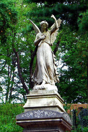 One of Green-Wood's beautiful marble angels