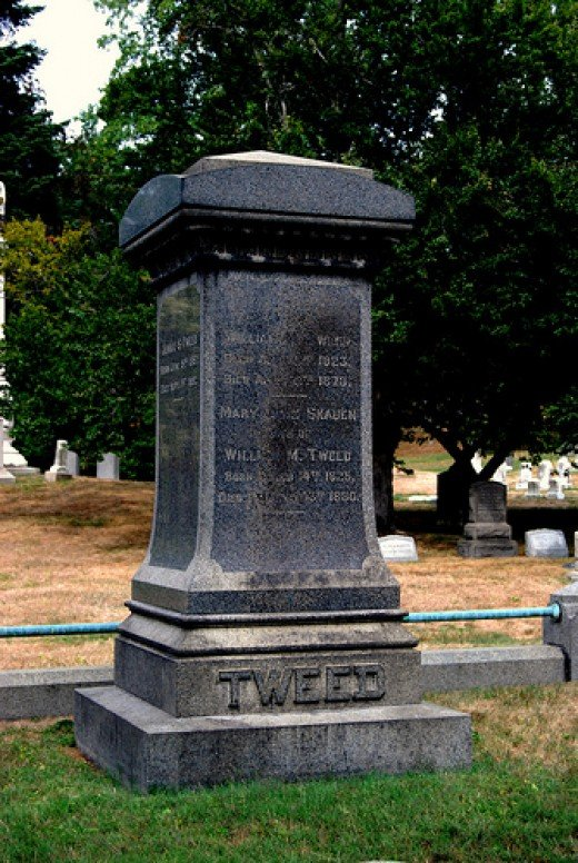 Boss Tweed's tombstone in Green-Wood Cemetery