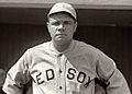 BabeRuth in 1919, His last season with the Red Sox