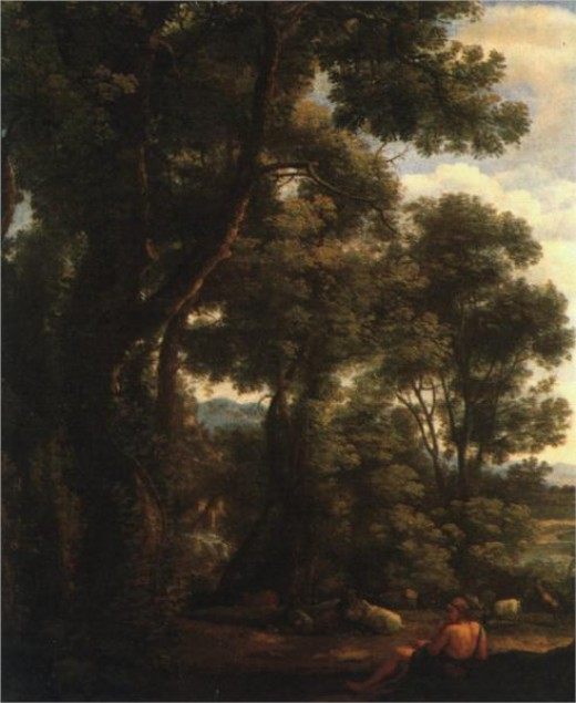 "Claude Lorrain,"" Landscape with Goatherd,"" oil on canvas, 1636"