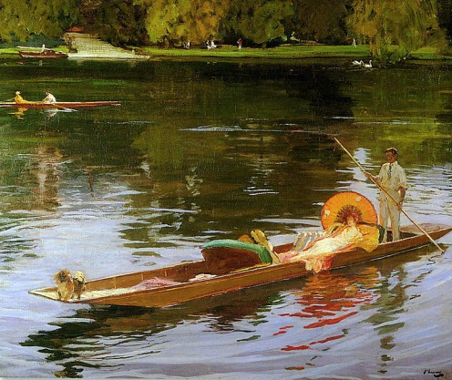 Boating on the Thames by John lavery
