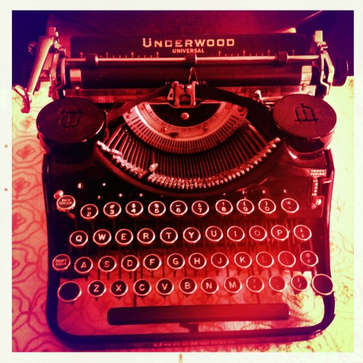 My vintage typewriter