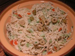 Spanish Olive Pasta Salad