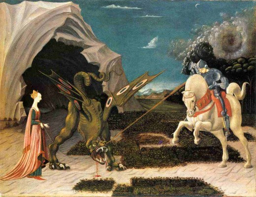 St. George and the Dragon Public Domain