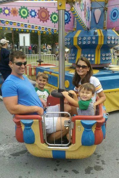Family fun on the Balloon Ride.