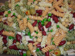 Kids Cook Monday: Pasta Salad with Chickpeas, Red Kidney Beans, and Tuna