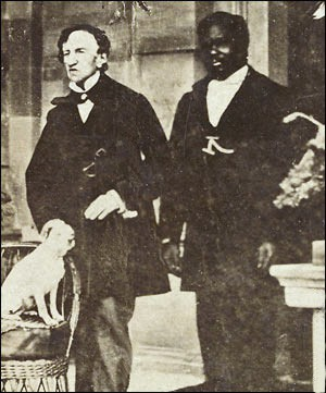 James Barry with his manservant, John, and his dog.