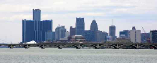 Detroit and Belle Isle Bridge