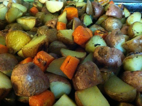 Roasted Red Potatoes & Carrots